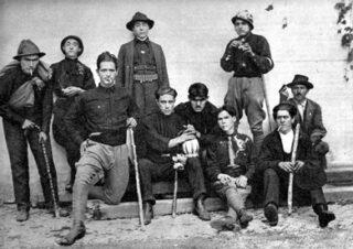 Groep fascisten in 1922