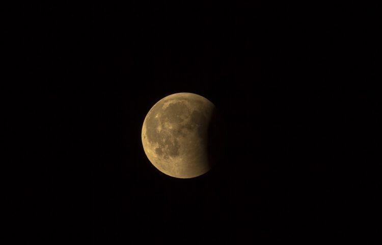 Moderne foto van de maan