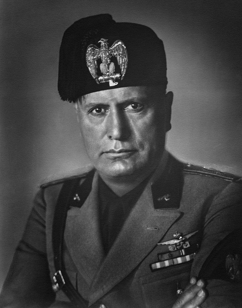 Portret van Mussolini uit 1930