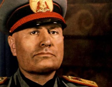 Benito Mussolini in 1940 - Foto van Roger Viollet
