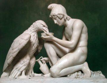 Ganimedes dorst de adelaar Zeus - Bertel Thorvaldsen 1817