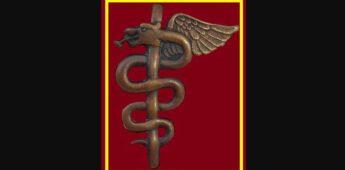 De god Asclepius en de esculaap