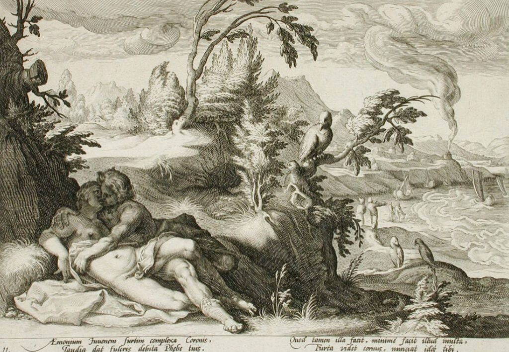 Apollo en Coronis - Hendrik Goltzius