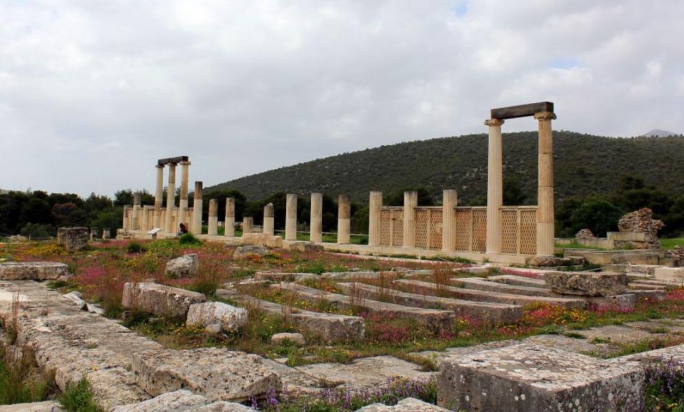 Restanten van de tempel Asclepius in Epidaurus