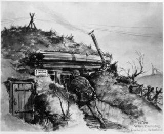Ablösung - Afbeelding uit het boek Getekend voor het leven' van Onno Lassooy