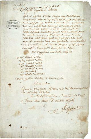 De Schaghenbrief uit 1626