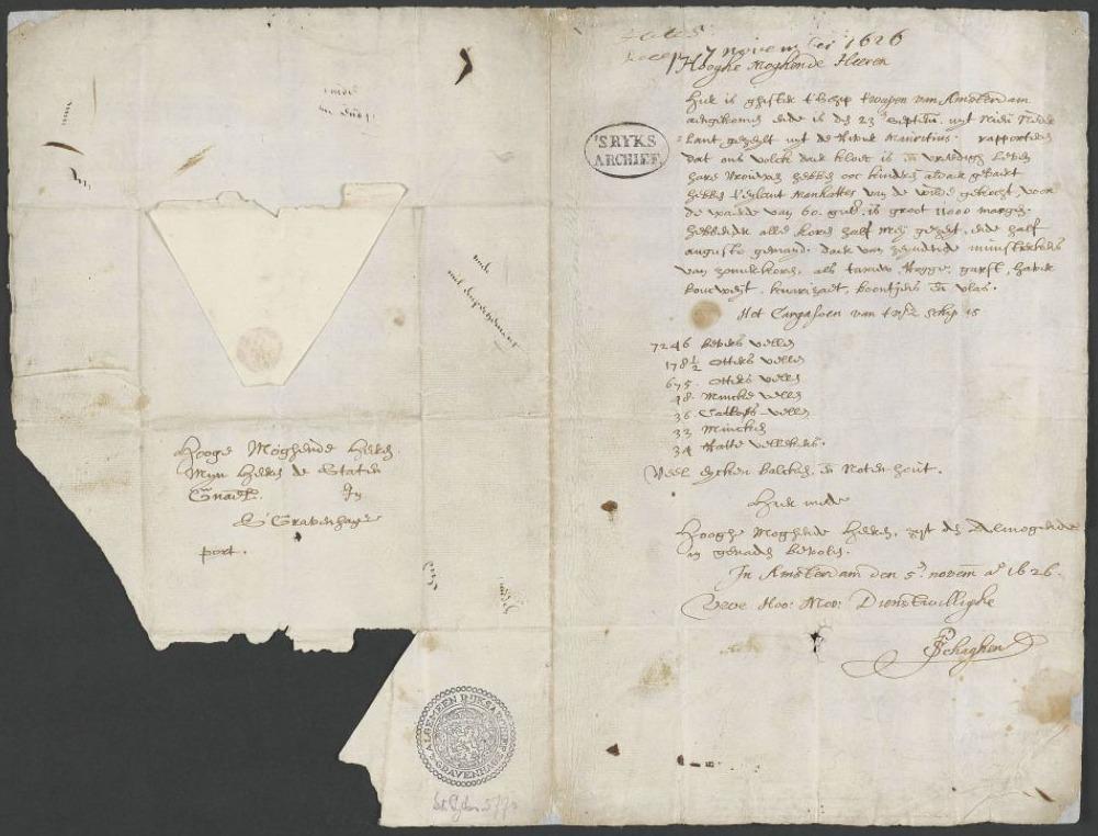 De Schaghenbrief, 1626