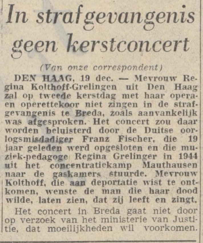 Bericht in De Volkskrant van 19-12-1964