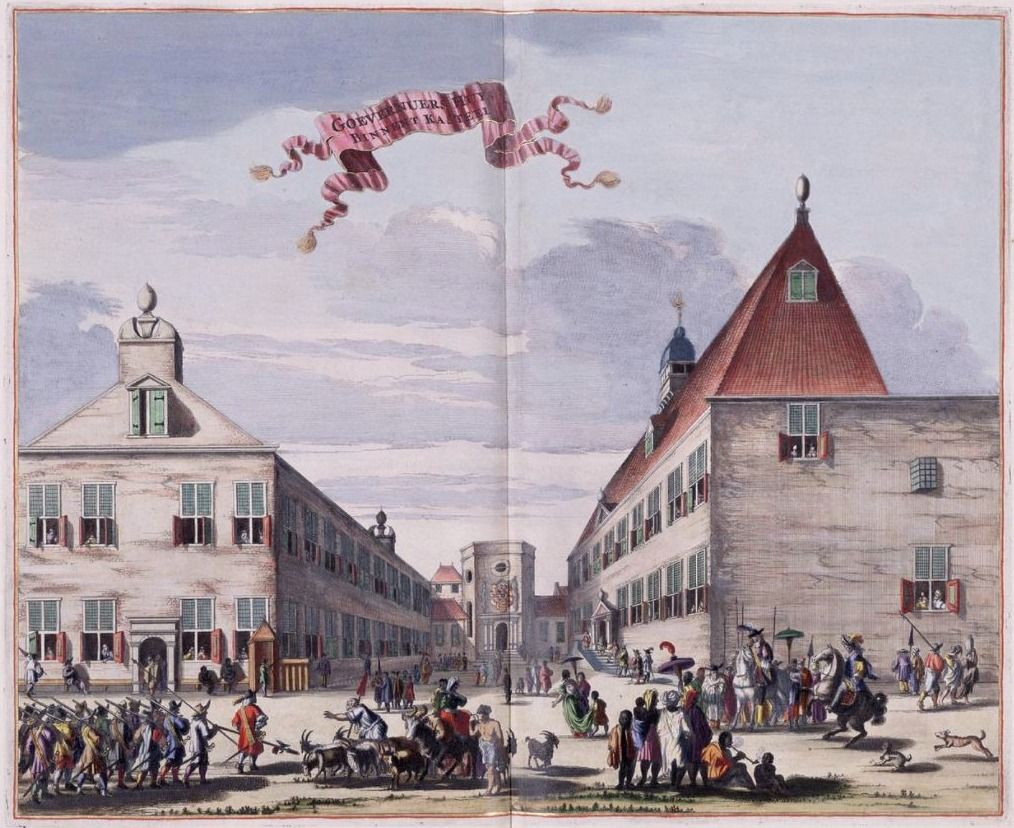 Huis van de gouverneur-generaal binnen het kasteel van Batavia