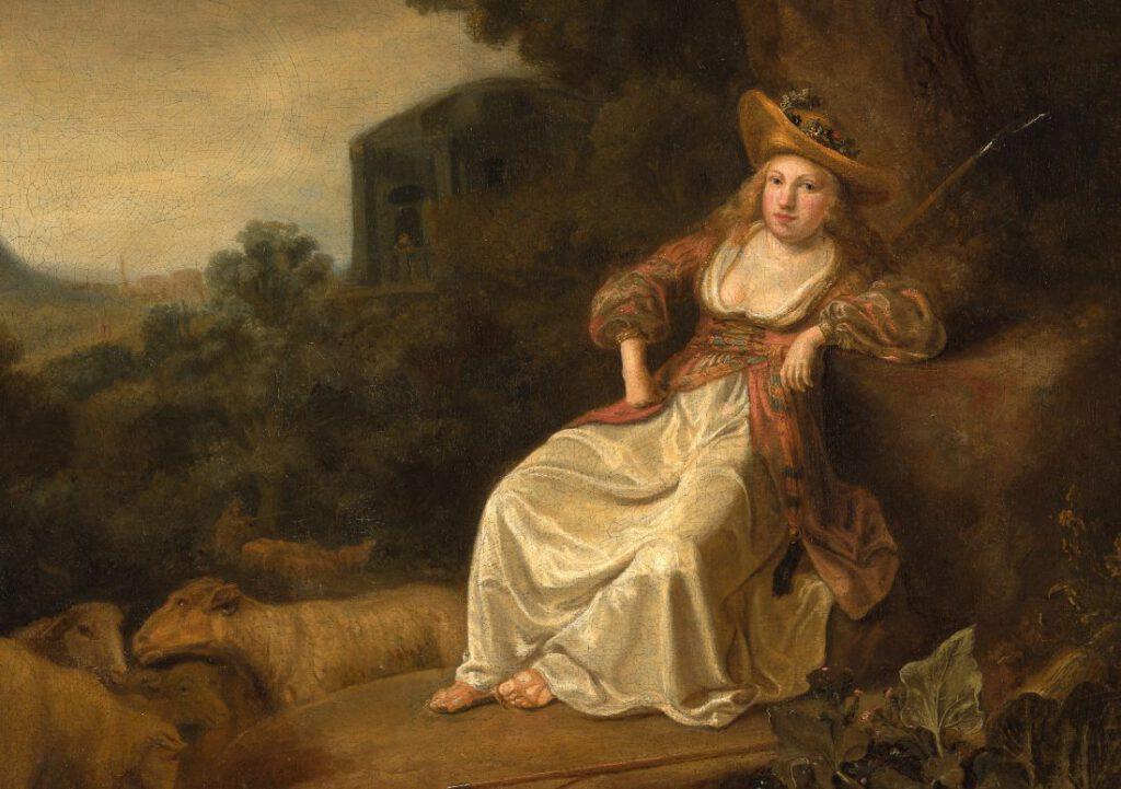 Detail van het verworven schilderij van Ferdinand Bol