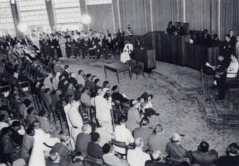 De onafhankelijkheidsceremonie voor Congo, 1960