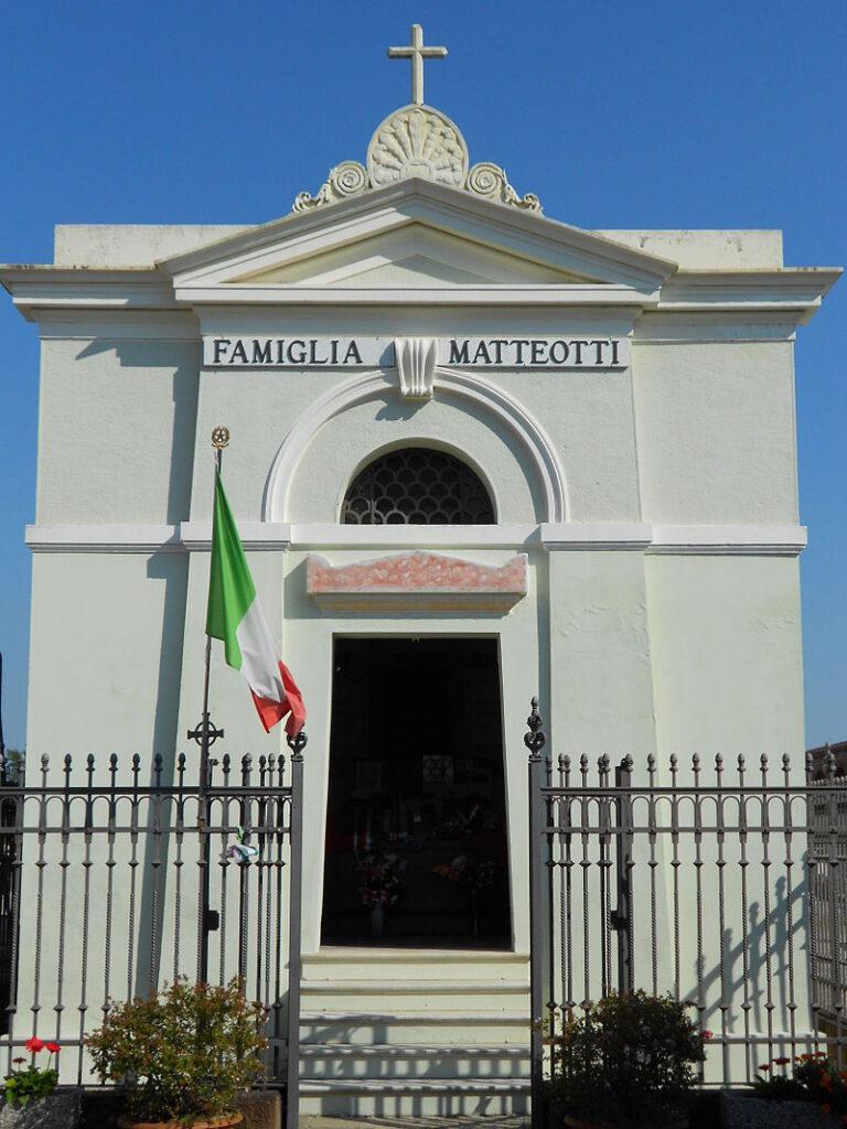 Graf van de socialistische Italiaanse leider Giacomo Matteotti