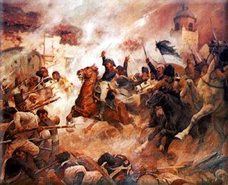 Moment uit de Chileense Onafhankelijkheidsoorlog