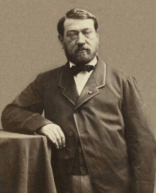 Auguste Mariette, rond 1861 gefotografeerd door Nadar