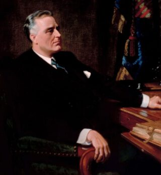 Franklin Delano Roosevelt - Geportretteerd door Frank O. Salisbury
