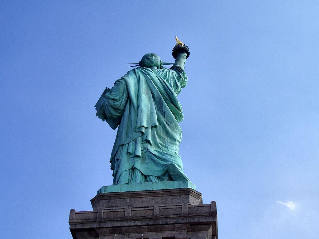 Achterzijde van het Statue of Liberty