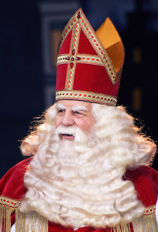 Bram van der Vlugt als Sinterklaas in 2007