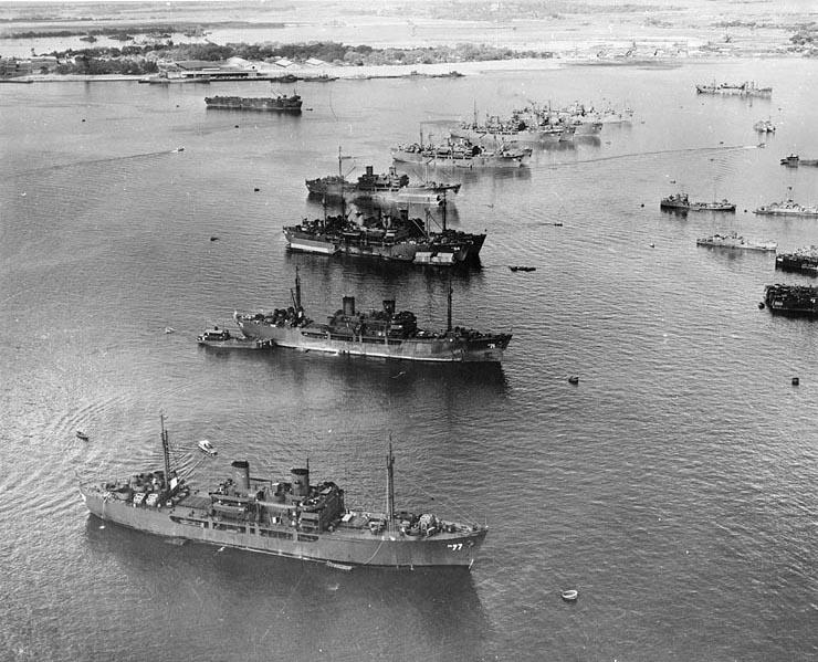 Onderdeel van de vloot die voor Operation Crossroads naar Bikini werd overgebracht