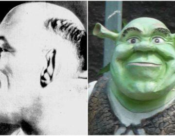 Maurice Tillet en Shrek