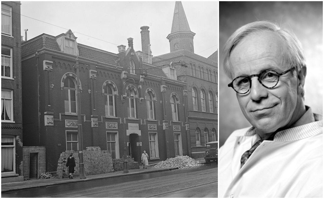 Toneelschool Amsterdam in 1949 (CC0 - Daan Noske / Anefo) en Bram van der Vlugt in 1991