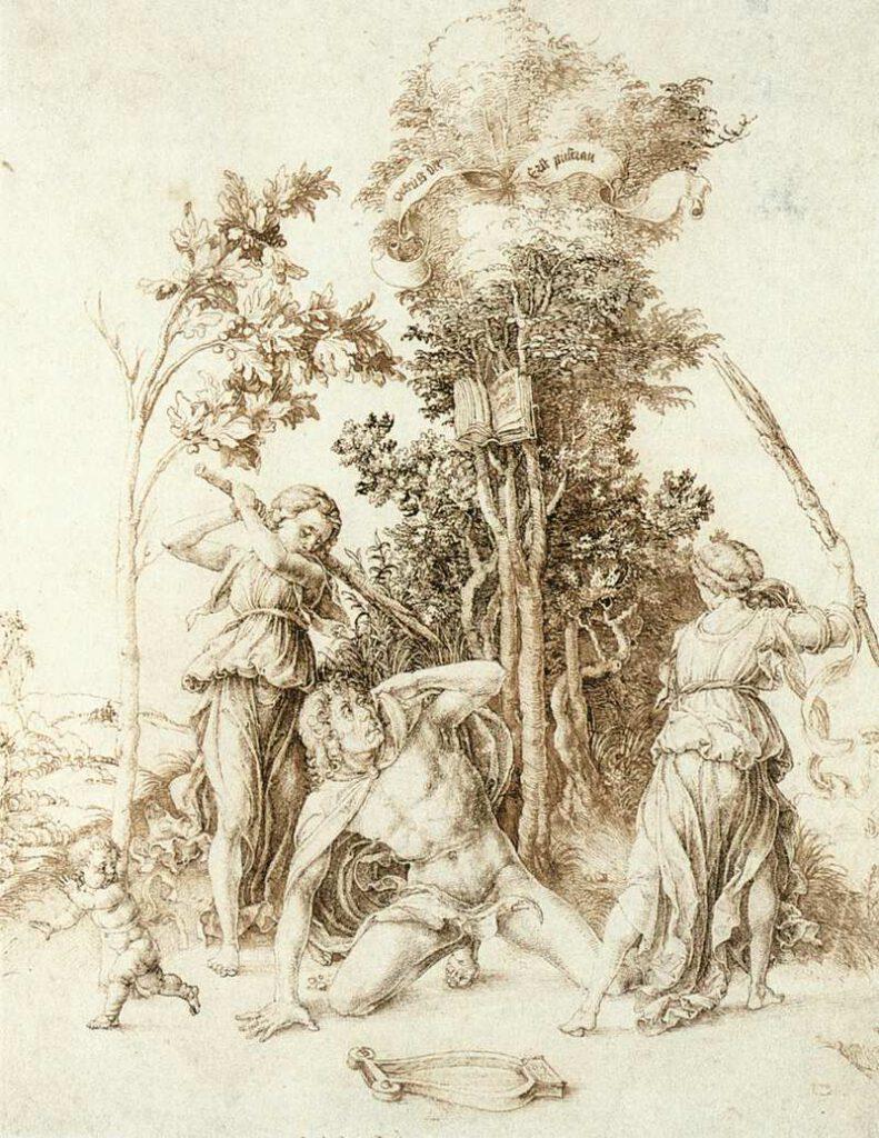 De dood van Orpheus - Albrecht Dürer