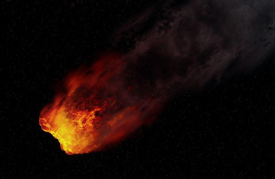 Willekeurige verbeelding van een meteoriet