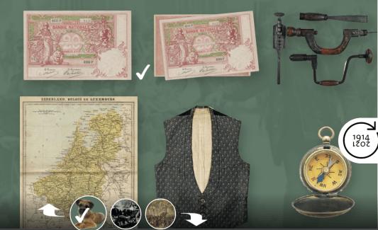 Screenshot Educatief Platform Eerste Wereldoorlog