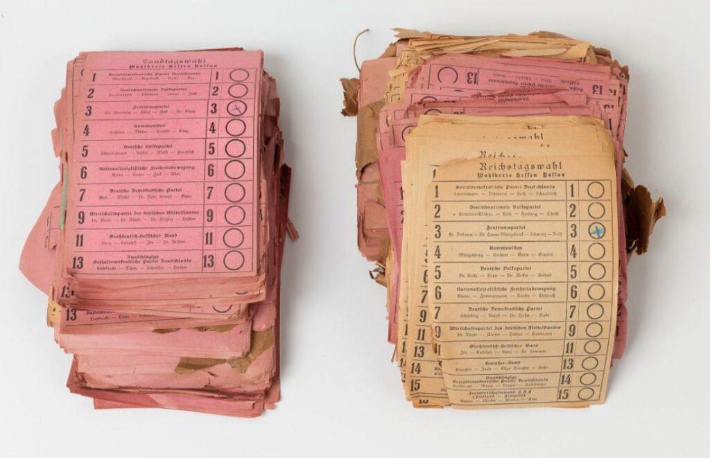 Stembriefjes voor de Nationale Vergadering van Weimar van 1919