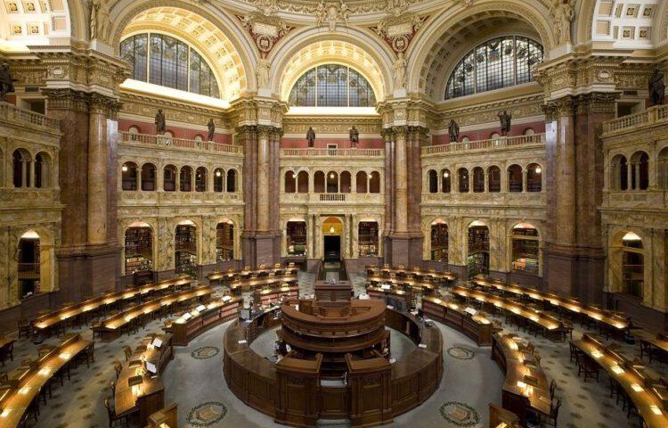 Willekeurige foto van een oude bibliotheek