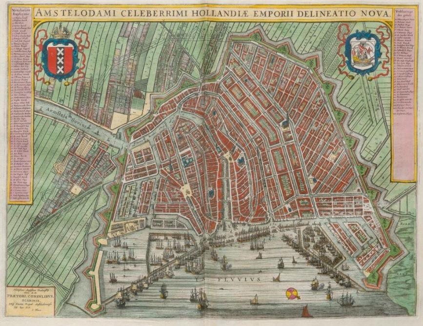 Amsterdam in de 'Toonneel der Steden van de Vereenighde Nederlanden'