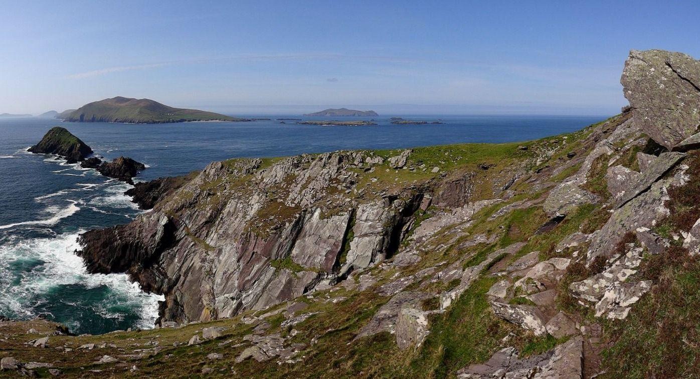 De Blasket eilanden gezien vanaf Dunmore Head