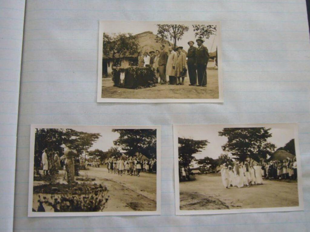 Een fotoalbum over het kamp. (bron: De Nationale archieven van Zambia)