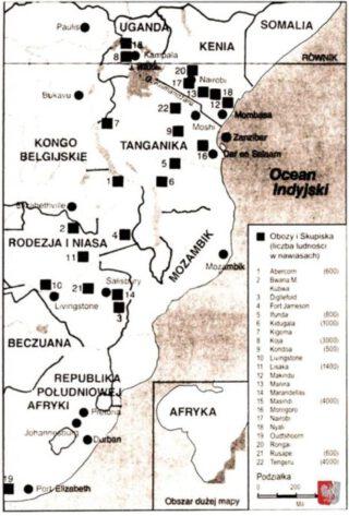 De Poolse opvangkampen in Afrika - Bron: Kresy Siberia Virtual Museum
