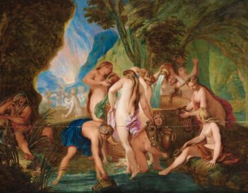 De Danaïden vullen hun vat - Schilderij van Nicolas Bertin