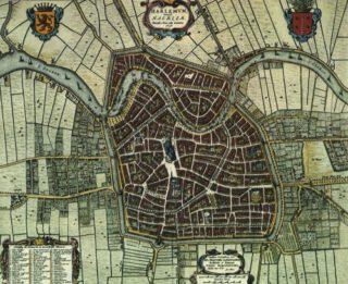 Kaart van Haarlem uit 1652