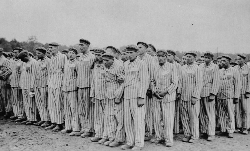 Gevangenen in concentratiekamp Buchenwald, ca. 1938- 1941