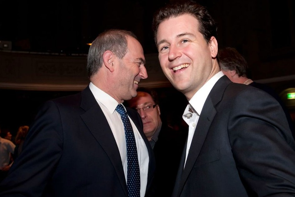 Lodewijk Asscher in 2010 met links Job Cohen