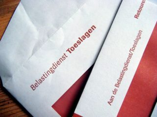 Enveloppen van de afdeling Toeslagen van de Belastingdienst