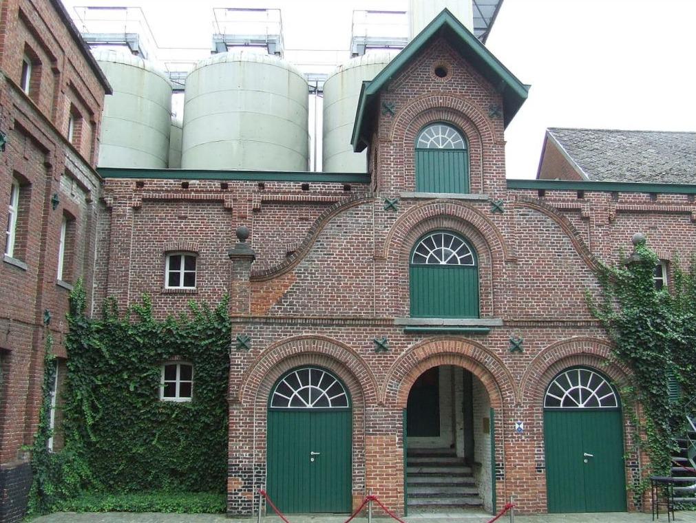 Toegang tot de oude mouterij van Brouwerij Rodenbach