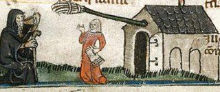 Alewife op een afbeelding uit circa 1300