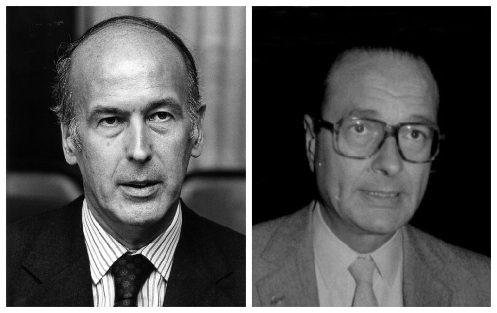 Valéry Giscard en Jacques Chirac