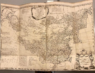 'A general map comprizing China, Chinese-Tartary & Tibet, drawn from the Particular Maps of the Jesuits […] By the Sieur D'Anville Geographer in ordinary to the King of France 1734'.