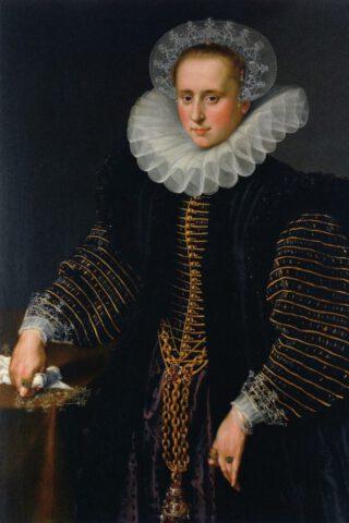 Anonieme kunstenaar, Portret van Maria Schuurman, 1599 -1600. Rijksmuseum Amsterdam