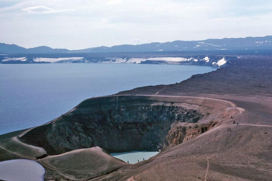 Bekken van de vulkaan Askja