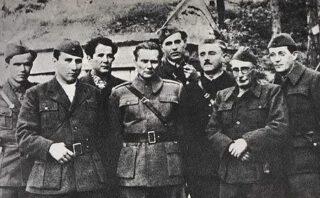 Derde van links Djilas, midden Tito