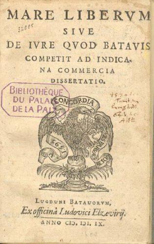 Eerste uitgave van Mare liberum