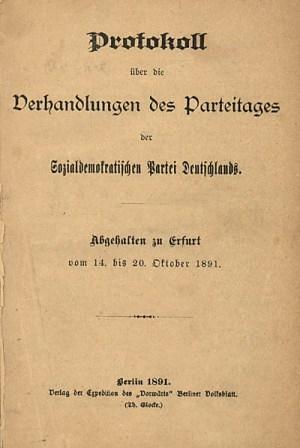Erfurtprogramma SPD, 1891