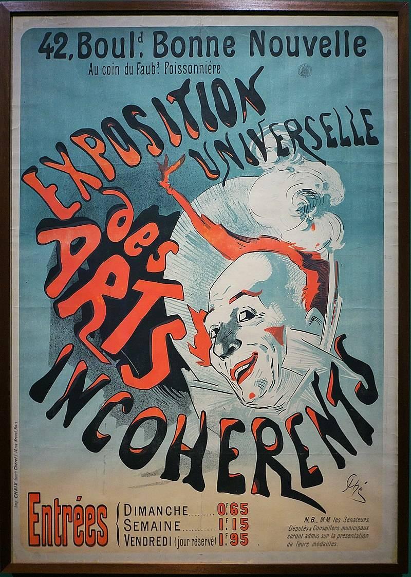 Poster ter promotie van een tentoonstelling van Les Arts Incohérents, 1899