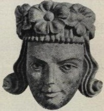 Dertiende-eeuwse afbeelding van Hákon V van Noorwegen