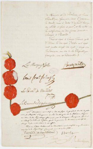 Het vredesverdrag van Campo Formio